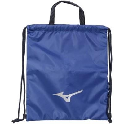 【セール】 ミズノ スポーツアクセサリー ナップサック TSAランドリーバッグ 33JM1X0127 ブルー