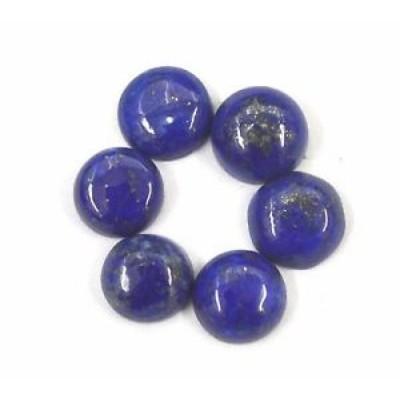 【お取り寄せ】ラピスラズリ 15.77 CTS. WHOLESALE LOT BLUE LAPIS LAZULI 9X9 MM ROUND CABOCHON 6 P. LPR39