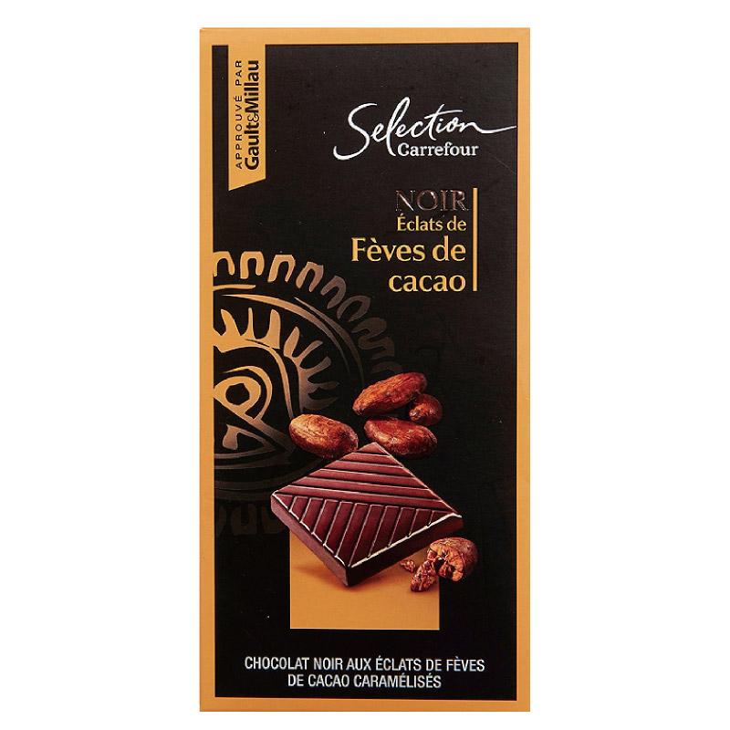 家福精選特黑巧克力可可片