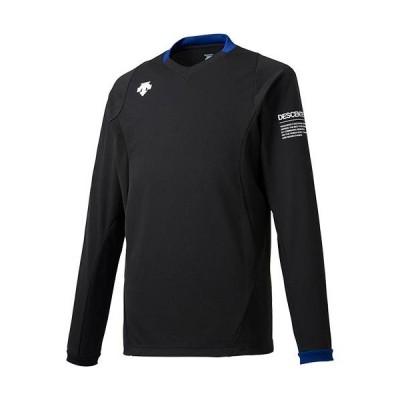 デサント(DESCENTE) メンズ レディース バレーボールウェア 長袖 ライトゲームシャツ ブラック DSS5910 BLK トップス 練習 クラブ 部活 移動着 ロングスリーブ