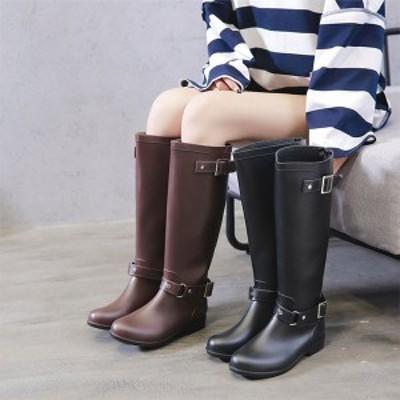 シューズレディース ブーツ 雨靴 撥水 防水 レインシューズ 長靴 レインブーツ ロング丈 長靴
