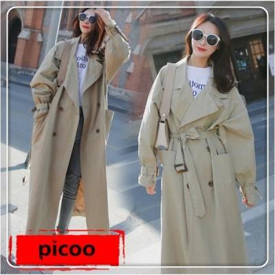 コート レディース ロング丈コート トレンチコート レディース ロング丈 ゆったり OL 通勤 韓国風 大きいサイズ
