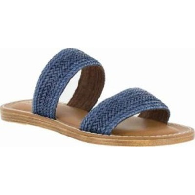 Bella Vita レディースサンダル Bella Vita Imo-Italy Slide Sandal Navy Woven Synthet