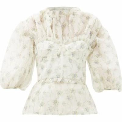 ブロック コレクション Brock Collection レディース ブラウス・シャツ トップス Ramage floral-print silk blouse Cream
