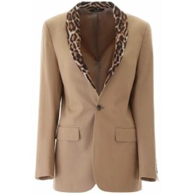 R13/アール サーティーン ブレザー KHAKI R13 blazer with animal print lapel レディース 春夏2020 R13W7355 ik