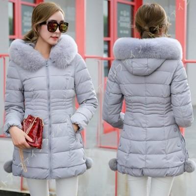 ロング ダウン コート ダウンコート レディース ダウンジャケット ロング丈 婦人用 服 アウター フード付き 厚手 暖かい 防寒着おしゃれ 中綿コート