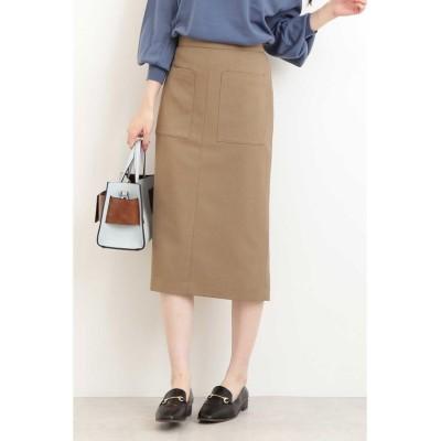 (N Natural Beauty Basic/エヌナチュラルビューティベーシック)ポケットタイトスカート/レディース モカブラウン