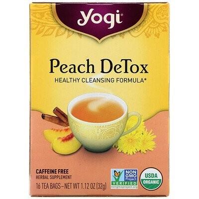 Peach DeTox, Caffeine Free, 16 Tea Bags, 1.12 oz (32 g)