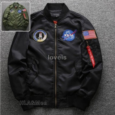 MA-1 メンズ ジャケット ミリタリージャケット MA1 フライトジャケット スタジャン 薄手 アウター 父の日 2021