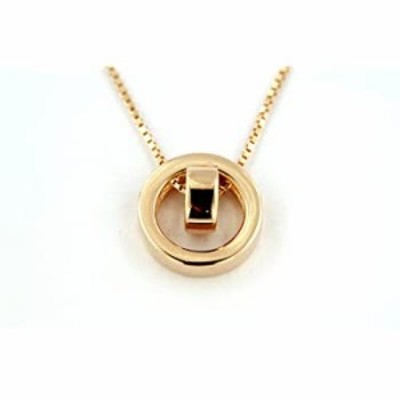 """Circle Charm Pendant in Round Cut Cubic Zirconia 14k Rsoe Gold FN 925 Sterling Silver 16"""" Necklace"""