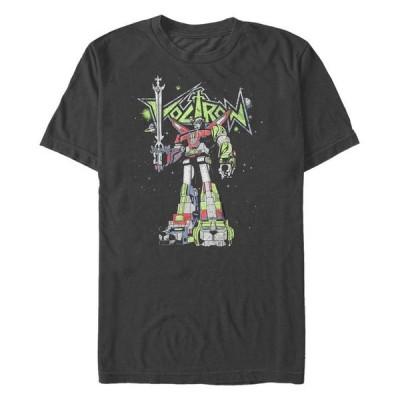 フィフスサン メンズ Tシャツ トップス Voltron Defender of the Universe Men's Poster Short Sleeve T-Shirt
