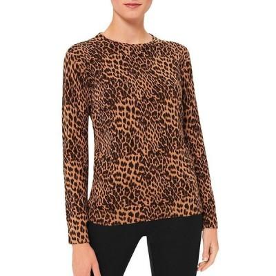ホッブスロンドン レディース ニット・セーター アウター Pamela Leopard Print Sweater