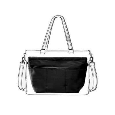 バッグインバッグ 大容量 Bag in Bag 自立/軽量/ジッパー付き盗難防止/13個ポケット多収納/トート用 インナーバッグ 通勤 旅行 仕切り バッグの中を整理整頓