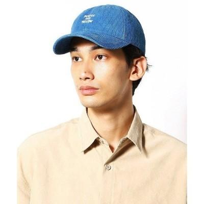 帽子 キャップ インディゴ コーデュロイ ローキャップ