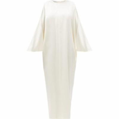 ラ コレクション La Collection レディース ワンピース マキシ丈 ワンピース・ドレス Epione silk-charmeuse maxi dress Ivory