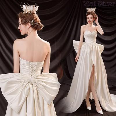 ウェディングドレス ドレス 花嫁 結婚式 披露宴 大きいサイズ Aラインドレス ブライダルドレス ロングドレス ウェディング ロング お姫様 新作 vivishow