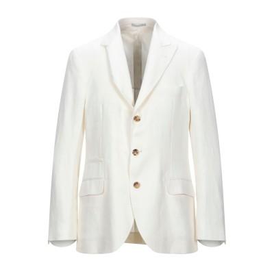 ブルネロ クチネリ BRUNELLO CUCINELLI テーラードジャケット ホワイト 50 リネン 100% テーラードジャケット