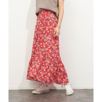 Rouge vif la cle / ルージュ・ヴィフ ラクレ フレンチフラワープリントスカート
