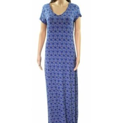 Tart タルト ファッション ドレス Tart NEW Blue Multi Womens Size Large L Printed Scoop Neck Maxi Dress