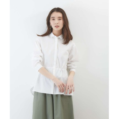 【collex】 ドロストコットンシャツ レディース ホワイト F collex