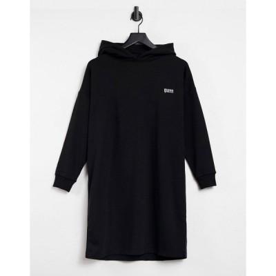 ナイトアディクト レディース パーカー・スウェットシャツ アウター Night Addict set oversized tracksuit hoodie Black