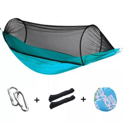 屋外のキャンプハンモック蚊帳 1-2 人ポータブルトラベルキャンプ生地ぶら下げスイングハンモックベッドガーデン家具