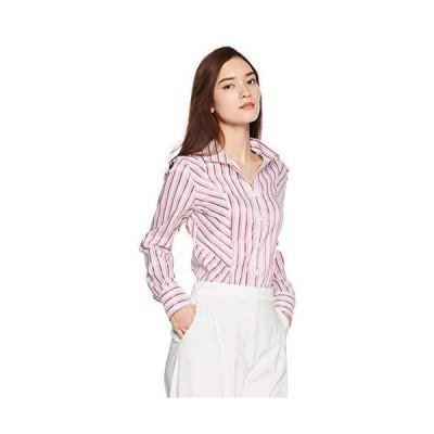 [ナラ カミーチェ] ストライプスタンドカラーシャツ レディース 10-82-01-074 レッド 日本 S (日本サイズ7 号相当)