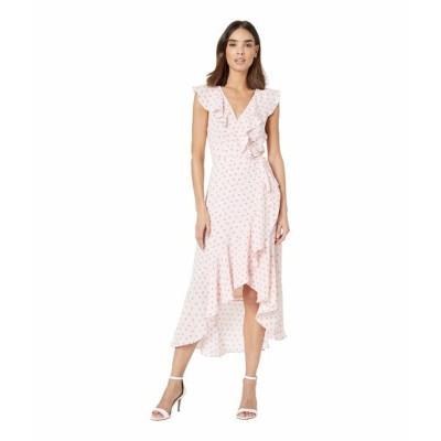 ドナモーガン ワンピース トップス レディース Sleeveless Printed Chiffon Wrap Dress Pink/Purple Multi
