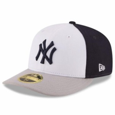 New Era ニュー エラ スポーツ用品  New Era New York Yankees White/Gray Front N Center Low Profile 59FIFTY Fitted Hat