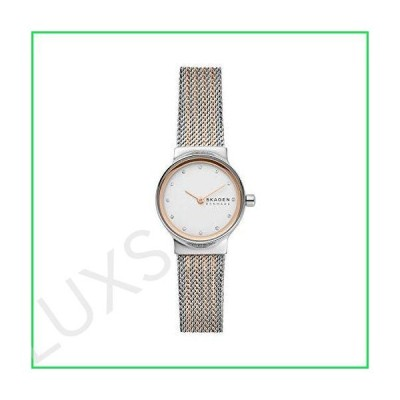 Skagen Women's Freja Quartz Analog Stainless Steel and Stainless Steel Mesh Watch, Color: Two-Tone/Silver Mesh (Model: SKW2699) 並行輸