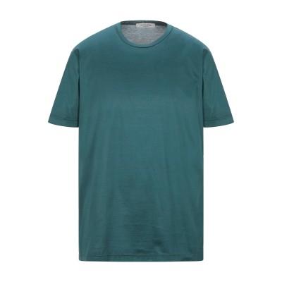 LA FILERIA T シャツ ダークグリーン 56 コットン 100% T シャツ