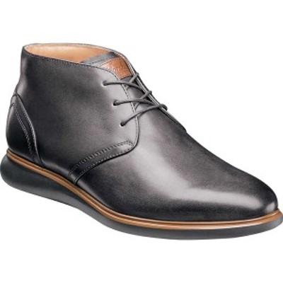 フローシャイム メンズ ブーツ&レインブーツ シューズ Fuel Plain Toe Chukka Gray Leather/Black Sole