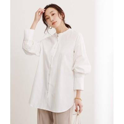 【ユアーズ】 バックタックチュニックシャツ レディース オフホワイト L ur's