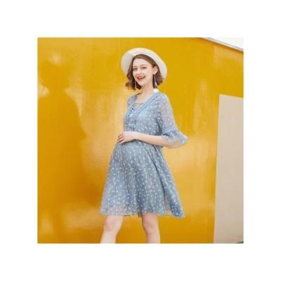 フローラル  マタニティドレス フォーマル パーティードレス お呼ばれドレス kh-1092