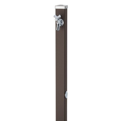 UNISON(ユニソン)ユニット立水栓 スプレスタンド60角(マットブラウン)+蛇口(シルバー)1個セット 左右仕様【メーカー直送/代金引換不可】