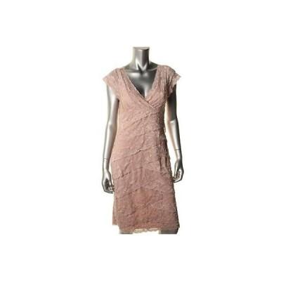 海外セレクション ドレス ワンピース Marina 1328 レディース ピンク Lace Knee-Length Party Cocktail ドレス 10 BHFO