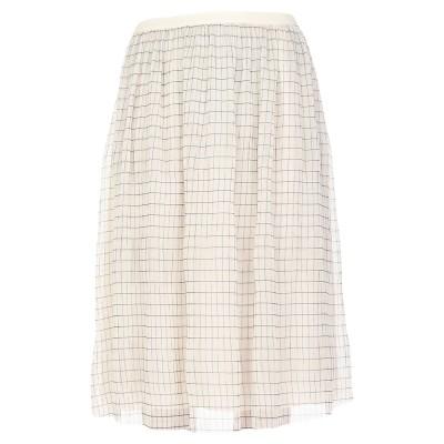 カルバン クライン CALVIN KLEIN 7分丈スカート アイボリー 36 ポリエステル 100% 7分丈スカート