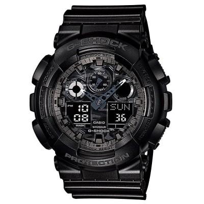 カシオ Gショック CASIO G-SHOCK カモフラージュ ダイアル アナデジ 腕時計 ブラック GA-100CF-1AJF 国内正規モデル