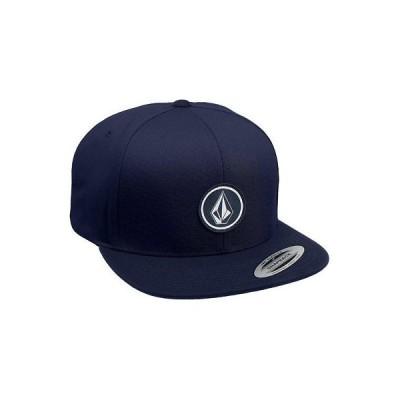 帽子 ボルコム Volcom Men's Quarter Twill Snapback Hat Navy Blue Cap Summer Headwear