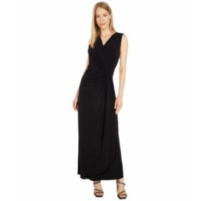 トッミーバハマ レディース ワンピース トップス Clara Faux Wrap Sleeveless Maxi Dress Black