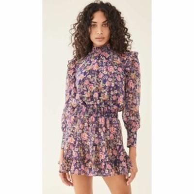 ミサ MISA レディース ワンピース ワンピース・ドレス Gianna Dress Navy Falaise Floral