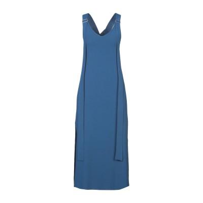 MRZ 7分丈ワンピース・ドレス ブルー S レーヨン 94% / ポリエステル 6% 7分丈ワンピース・ドレス