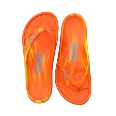 [VIVA! ISLAND] SANDALS(ビバアイランド) FLIP FLOP ビーチサンダル Orange/Yellow/38 (24.0〜24