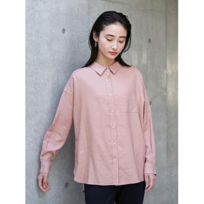 (koe/コエ)リネンベーシックシャツ/レディース ピンク