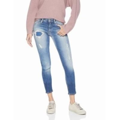 Calvin Klein カルバンクライン ファッション パンツ Calvin Klein NEW Blue Womens Size 31x30 Patch Skinny Distressed Jeans