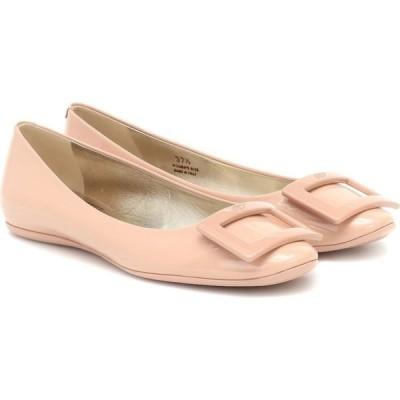 ロジェ ヴィヴィエ Roger Vivier レディース スリッポン・フラット シューズ・靴 gomette patent-leather ballet flats Rosa Salmone