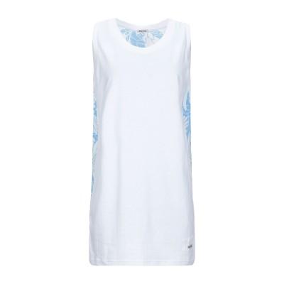 ミュウミュウ MIU MIU ミニワンピース&ドレス ホワイト XS レーヨン 50% / コットン 50% / シルク ミニワンピース&ドレス