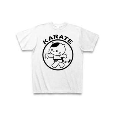 空手とねこ Tシャツ(ホワイト)