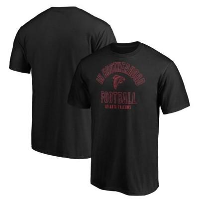 ユニセックス スポーツリーグ フットボール Atlanta Falcons Majestic Iconic Hometown Arc Logo T-Shirt - Black Tシャツ