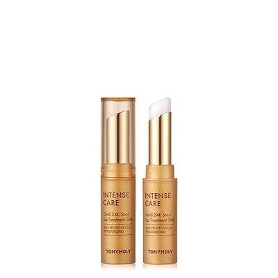 トニーモリー(Tonymoly) インテンスケアゴールド24Kカタツムリリップトリートメントスティック 3.5g : いつどこでも手軽に唇を保護するスティックタイプで低刺激処方で敏感な肌にもやさしく使